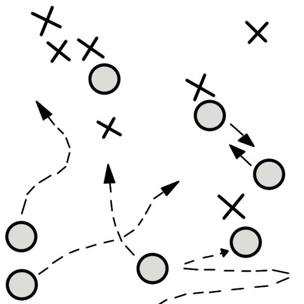 Ultimate frisbee plays