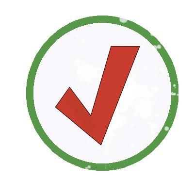 check mark ultimate frisbee checklist